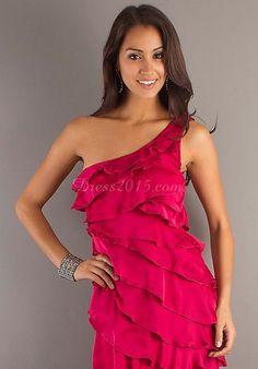prom dress,prom dresses,prom dress,prom dresses sheath chiffon one shoulder short prom dress with ruffles