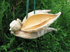 Milkweed+Pod+Bird+Ornament+by+NatureMaidTreasures+on+Etsy,+$3.00