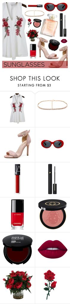 """Vintage Love: Retro Sunglasses"" by dora04 ❤ liked on Polyvore featuring Lancôme, Chanel, Gucci, Lime Crime, vintage and RetroSunglasses"