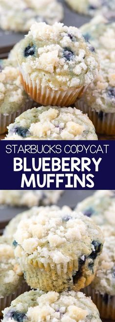 Starbucks Copycat Blueberry Muffins - this EASY blueberry muffin recipe is bette. - Starbucks Copycat Blueberry Muffins – this EASY blueberry muffin recipe is better than Starbucks - Easy Blueberry Muffins, Blue Berry Muffins, Blueberries Muffins, Starbucks Blueberry Muffin Recipe, Blueberry Recipes Easy, Mini Muffins, Blueberry Muffin Recipes, Best Muffin Recipe, Starbucks Cookies And Cream Recipe