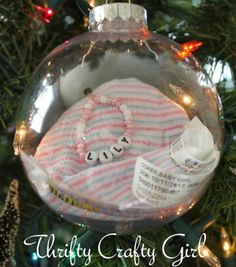 Perfect Christmas present for grandma or a baby keepsake? Make an ornament out of baby's hospital bracelet.