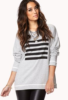 Striped Square Pullover | FOREVER21