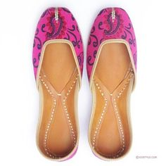 Shopo.in : Buy Pink Orchard Punjabi Jutti By Xiostyle online at best price in Chandigarh, India