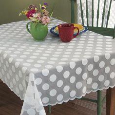 Black Amp White Polka Dot Tablecloth Wedding Junk Polka