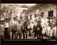 Fiesta de Mascaras,año 1921,Hatillo,Puerto Rico.