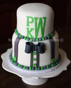 You can't have a Southern Styled Party without a monogram.  Throw in a bow tie and some suspenders...where's the cigar? www.facebook.com/southernsweetsbymegan