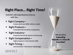 #Seacret Direct Right Place Right Time - find out more Link Below!