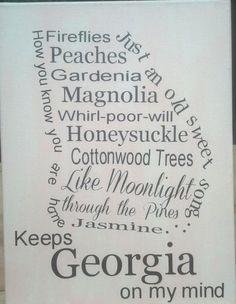 Georgia on my Mind / 12 x 16 Canvas / Store by MintJulepsnMuddin,