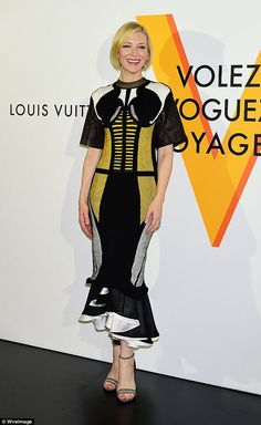 Looking incredible: Cate Blanchett looked ultra-glamorous at the Louis Vuitton Exhibition Volez, Voguez, Voyagez in Tokyo, Japan on Thursday