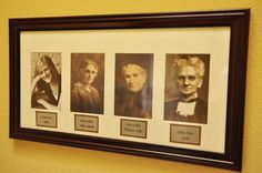 love this idea..have all the people that you are named after pictured beside your picture!