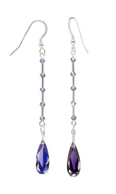 Jewelry Design - Earrings with Cubic Zirconia Drops, Swarovski Crystal and Liquid Silver-Finished Brass Beads - Fire Mountain Gems and Beads