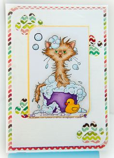 *NEW Bath Cat [C1218] - $8.50 : Whimsy Stamps