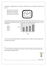 Resultado de imagem para avaliação diagnostica de matemática para o 3 ano