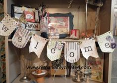 Build a Banner From Stampin'UP! - another must have holiday and party decorating product! DIY Welcome Banner