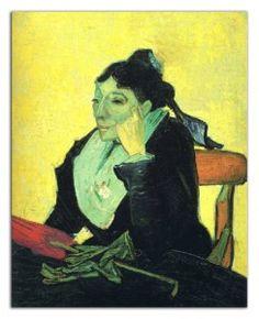 L'Arlesienne, Portrait of Madame Ginoux - Vincent van Gogh Vincent Van Gogh Artwork, Paul Gauguin, Buy Posters, Art Gallery, Hand Painted, Portrait, Artworks, Painting, Art Museum