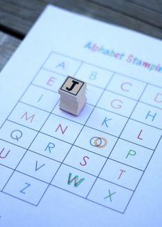 Free Alphabet Stamping Printable.