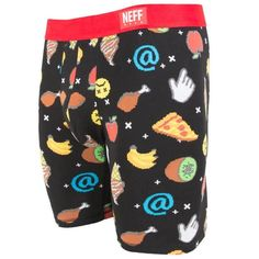Neff Wear Daily Underwear #Emoji Boxer Briefs Men's Underwear Urban Graphics #Neff #BoxerBrief