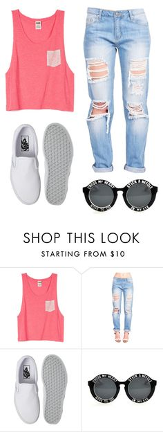 """Simply Smile"" by i-poop-unicorns ❤ liked on Polyvore featuring Vans, Pink, vans, boyfriendjeans and SpringStyle"