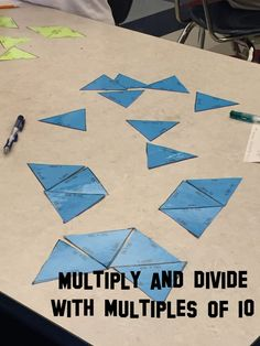 This math activity allows students to use their knowledge of math facts and place value to solve 30 multiplication and division problems. This puzzle task is ideal for engaging math center work. The problems all use multiples of 10, 2500÷50=50 and 60x40=2,400 for example