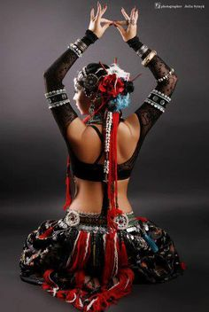 Belly Dance:  #Belly #Dancer ~ American Tribal Style.