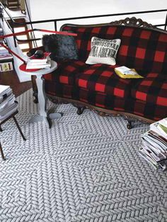 Carpet Tiles With What Looks Like A Wood Grain Pattern