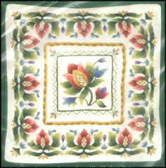 "ELSA WILLIAMS FLORAL JACOBEAN ""FLEUR DE LIS PILLOW"" CREWEL EMBROIDERY KIT #ElsaWilliams"
