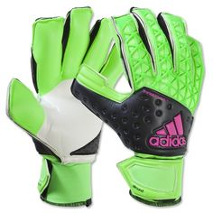 adidas Ace Zones AllRound Goalkeeper Gloves (Green/Black/Pink)