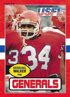 1985 Topps USFL  86 Herschel Walker acd37c954