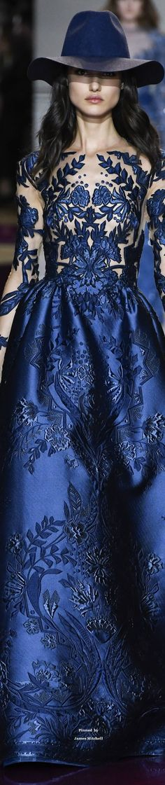 Zuhair Murad Fall 2016 Couture Fashion Show Blue Fashion, High Fashion, Fashion Show, Fashion Design, Fashion Check, Zuhair Murad, Beautiful Gowns, Beautiful Outfits, Couture Fashion