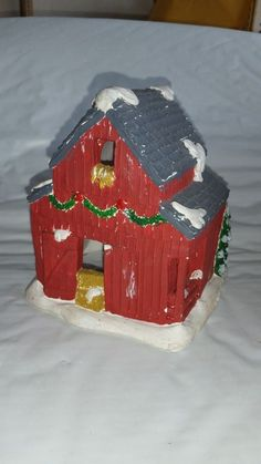 Plaster craft christmas houses you paint california for Plaster crafts to paint
