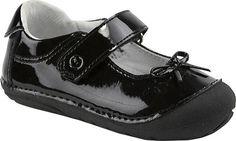 Stride Rite SRT SM Jane Mary Jane in Black Patent -  - Little Feet Childrens Shoes. #striderite #Jane #maryjane #baby #girl #dresshoes #firstwalker #cutebabyshoes #black #patent