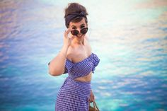 Tutoriel // DIY TwinSet short&top vichy façon Bardot - Bardot Like vichy Twinset sewing Tutorial