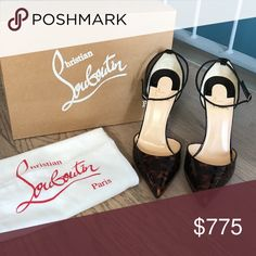 5e5125dfc4e8 Christian Louboutin UPTOWN 100 Patent Tartaruga Brand New Never worn (100%  authentic -