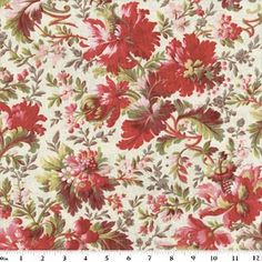 Fleur Rouge Pattern Anna Griffin Quilting Fabric