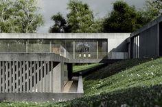 Betonowy dom w Muchocinie pod Poznaniem