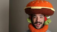 South Yarra man Phil Ferguson combines love of food and fashion to become #crochet hat sensation