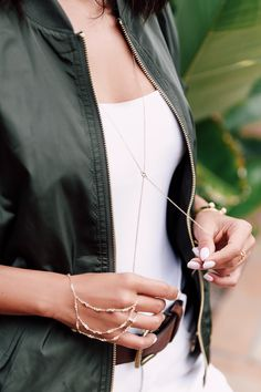 SUMMER 2016 JEWELRY TRENDS - Hand Chain & Body Chain Necklace