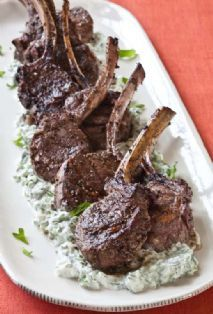 Ina's Greek Lamb with Yogurt Mint Sauce - maybe someday I will buy lamb just to make this.