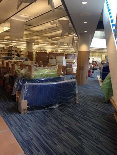 Brand new furniture for Medgar's new library!