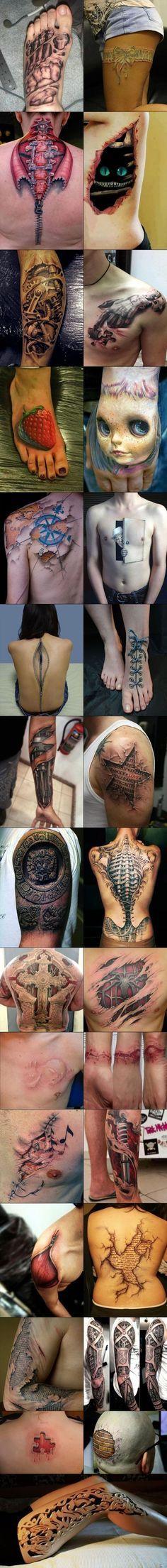 3D Tattoos... Holy shitballs!