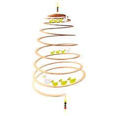 These cheerful broods of mum and baby ducks will give youngsters plenty to look at, and the fun spiral design will intrigue and calm little ones for hours. The ideal gift for any new nursery or playroom!