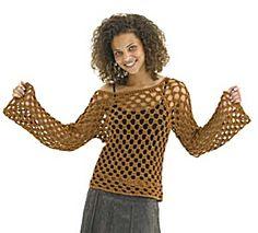 Free Crochet Pattern: Crochet Bronze Beauty Top