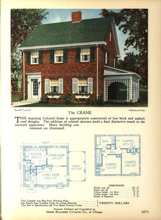 The Crane Home Builders Catalog Plans Of All Types Of Small Homes By Home