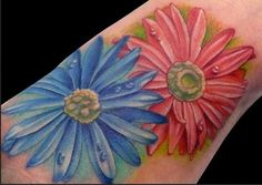 Aster Flower Tattoo - September birth flower. Would like this on a sleeve.