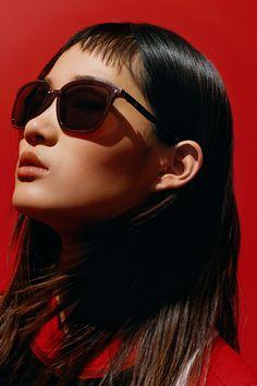 d50f1bc9c8 Beat the summer heat in square sunglasses from Calvin Klein platinum.   mycalvins Hyun Ji