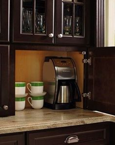 Big cabinets to hide the coffee Poland toaster