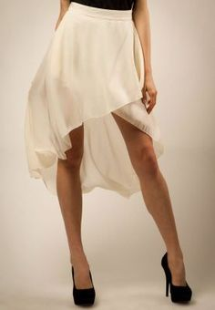 Chiffon fishtail/mullet skirt trend is the in thing at the moment. pair it with blouses, tank tops and even bandeau bikini tops!