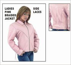 Heavy Duty Soft Pink Leather Jacket