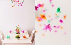 Zelf papieren bloemen maken als leuke en originele tafeldecoratie