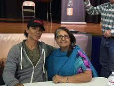 Zahn McClarnon and his mom. He's a good man. Buffalo Wyo, Durant Days 2015.